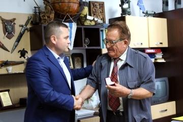 Геодезистът Георги Чонов със златна значка за своя цялостен принос за съграждането на Русе