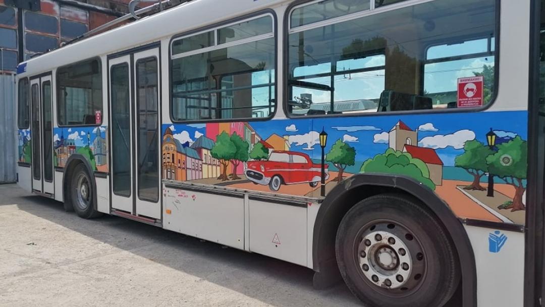 Произведение на изкуството вози пътници в Русе