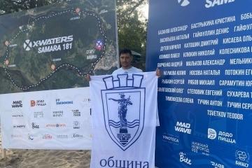 Теодор Цветков завърши със сребърен медал благотворителното си плуване по река Самара
