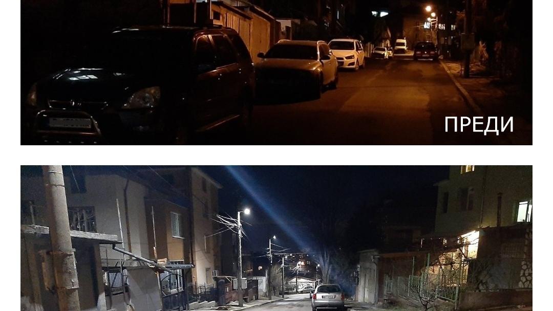 Улиците на Русе грейват с ново LED осветление