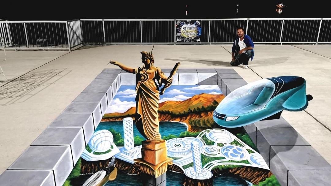 Пет нови триизмерни рисунки радват посетителите на русенския кей