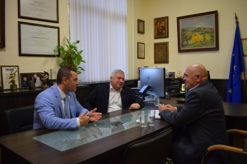 Mayor Pencho Milkov met Ivan Paslar the Chairman of the Taraclia district