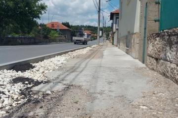 След настояване на Община Русе: разрушените тротоари в Басарбово ще бъдат ремонтирани