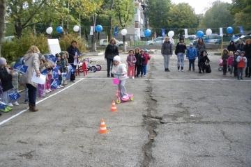 Надпревара на колела се проведе в детска градина «Звездица»